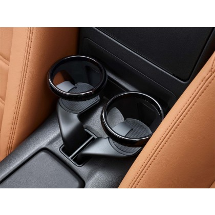124 Spider Interior Comfort Organizer Cup holder - Black Gloss