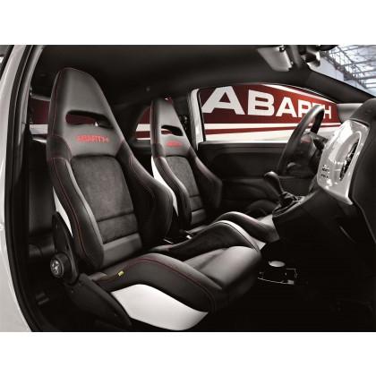 595/595c Seatbelt Seats - Formula 1 - Black with Red Stiching