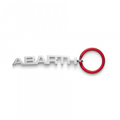 Abarth Metal Key Ring Red