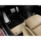 595/595c Velour Footwell Car Mats - with White Leather