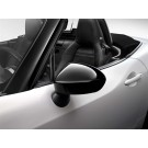 124 Spider Side Rear View Mirror Covers - Black Gloss